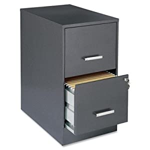 Lorell 16871 2-Drawer File Cabinet, 22-Inch