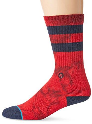Stance Men's Lennon Crew Socks, Red, Large/X-Large