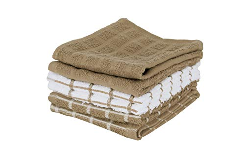 - Ritz 100% Terry Cotton, Highly Absorbent Dish Cloth Set, 12