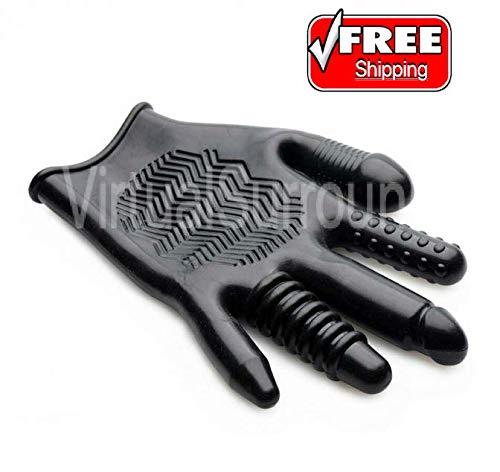 (Pleasure Textured Waterproof Realistic Massager Glove)