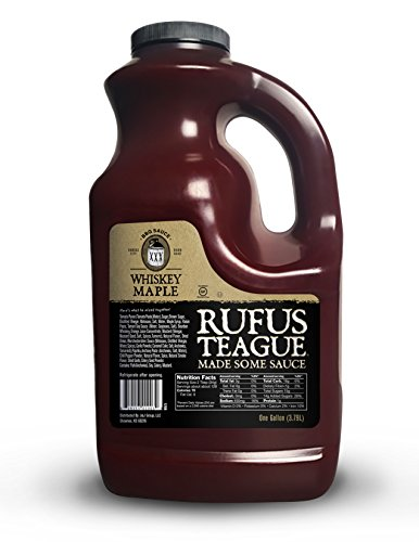Roasting Standing Rib Roast - Rufus Teague- Award Winning America Made Whiskey Maple BBQ Sauce -16oz. Made with Real Whisky and Maple- All Natural Ingredients. Ideal for Grilling, Roasting, Broiling or Smoking. (One Gallon)