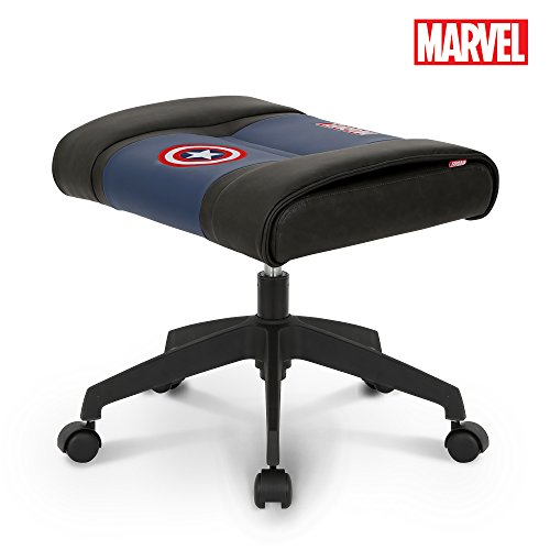 NEO CHAIR Licensed Marvel Multi-Use Stool w/Wheel 1 Year Warranty : Video Game Stool Gaming Chair Stool Footstool Simple Chair Footrest Meeting Chair Swivel Height Adjustable (Captain America Blue) -