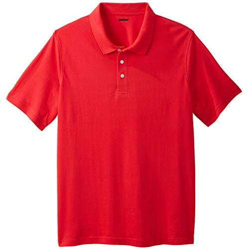 (KingSize Men's Big & Tall Pique Polo Shirt, True Red Tall-XL)