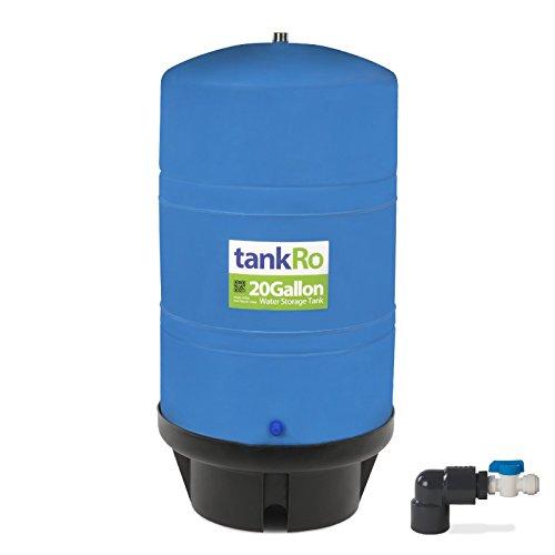 20.0 Gallon RO Expansion Tank – Large Reverse Osmosis Water Storage Tank Reservoir by tankRO – with FREE Tank Ball Valve by TankRo