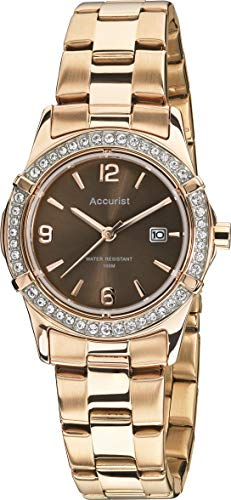 (Accurist Womens Analogue Classic Quartz Watch with Stainless Steel Strap LB1543.01)