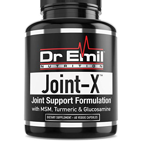Dr. Emil Joint-X with Glucosamine Chondroitin, Turmeric, MSM & Boswellia – Complete Joint Supplement for Men & Women (60 Veggie Capsules)