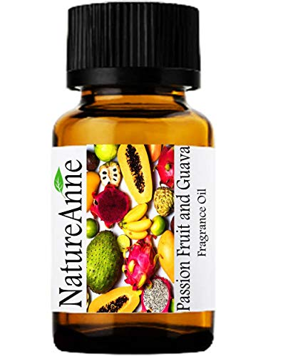Passion Fruit and Guava Premium Grade Fragrance Oil - 10ml - Scented Oil - for Diffuser Oils, Making Soap, Candles, Lotion, Home Scents, Linen Spray, Lotion, Perfume, Beard Oil,