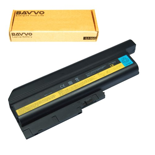 Bavvo 9-Cell Battery Compatible with ThinkPad T61 T500 W500 R500 R61 T60 R60 SL300 SL400 SL500,PN: 92P1131 92P1133 92P1137 92P1139 92P1141 FRU 42T4511 FRU 42T4504 FRU 42T4513 FRU 42T5233 (Fru 92p1127 Ibm Replacement)