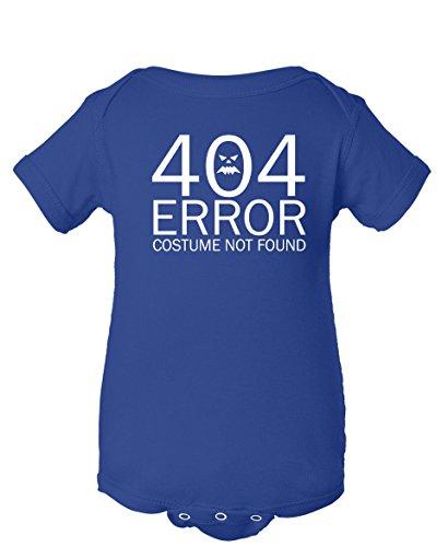 Tenacitee Baby Girl's 404 Costume Not Found Bodysuit, 12 Months, Royal Blue (Nerdy Girl Costume Ideas)