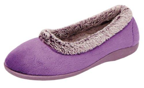 Sleepers - Zapatillas de estar por casa para mujer púrpura morado nnL0RGbgn