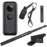 Insta360 ONE X Bundle: 360 Camera + Bullet Time Handle + Invisible Selfie Stick with EVO Gimbals Cleaning Cloth (Requires V30 microSDXC SD Card - Sold Separately)