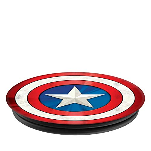 PopSockets: Collapsible Grip & Stand for Phones and Tablets - Captain America Shield Icon ()