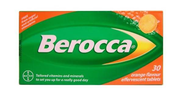 30 Pastillas efervescentes de Berocca, multivitamínicas, 181 g: Amazon.es: Salud y cuidado personal