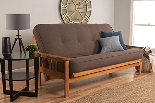 Kodiak Furniture KFMOBBLCOCLF5MD3 Monterey Futon Set with Barbados Finish Full Linen -