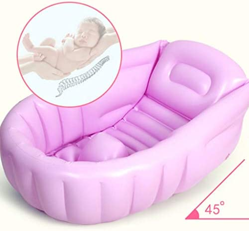 SBWFH 紫ベビーインフレータブルバスタブ - ポータブルベビーバスタブノンスリップ旅行バスタブ、ミニ折り畳み式のプール