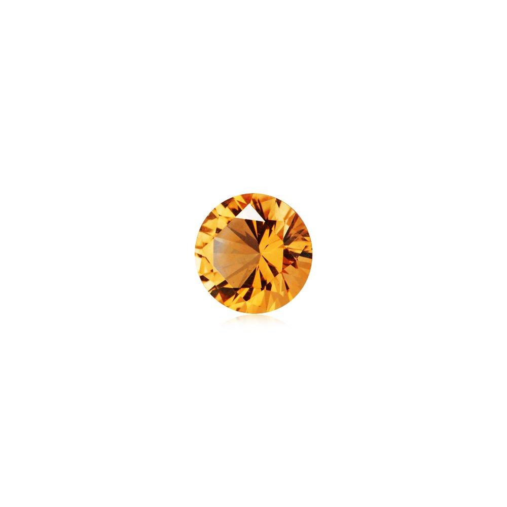 Mysticdrop 1.45-1.95 Cts of 8 mm AAAA (Heirloom) Round Fine Machine Cut Citrine (1 pc) Loose Gemstone