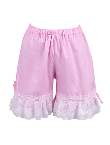 [Hugme Cotton Cute Pink Lace Lolita Bloomers] (Custom Cosplay Costumes Sale)