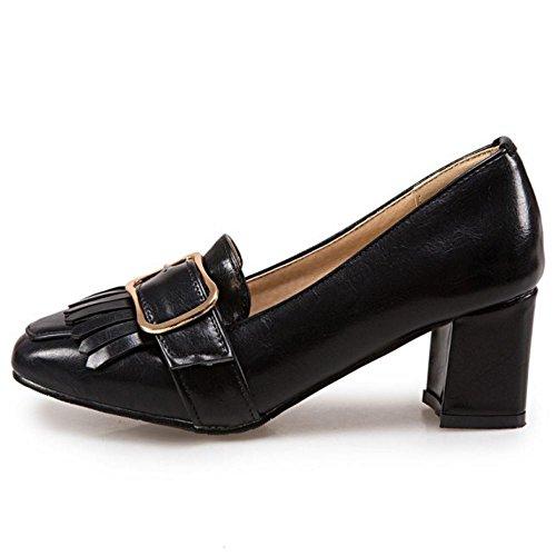 Donna Brogue Tacchi black Alti Zanpa 3 Blocchi Scarpe Oq7dd