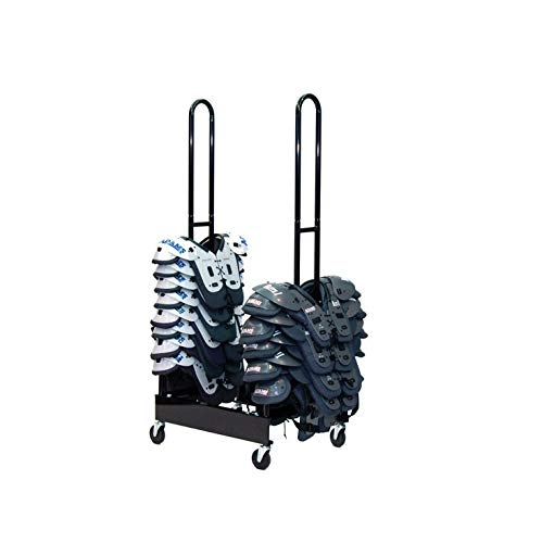 Champion Sports Two Stack Football Shoulder Pad Rack (Black)