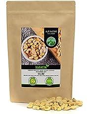 Rauwe cashews, natuurlijke en ongezouten cashewnoten, cashewnoten van gecontroleerde teelt