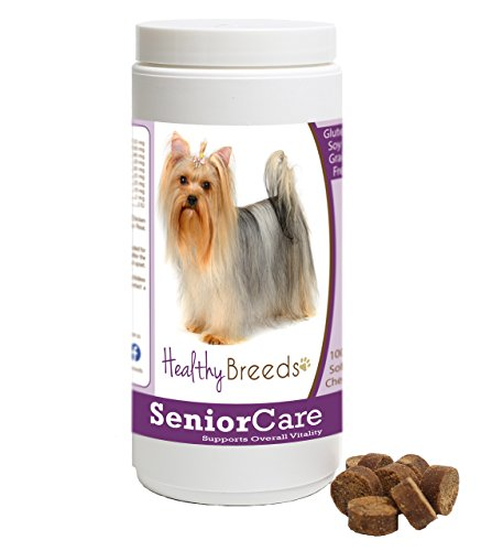 Healthy Breeds Older Dog Multivitamin Supplement Chews for Yorkshire Terrier  - OVER 100 BREEDS - Grain Free - Supports Healthy Hip & Joint Energy Levels & Immune System - 100 Chews