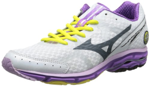 Mizuno Women's Wave Rider 17 2A Running Shoe,White,12 2A US ()