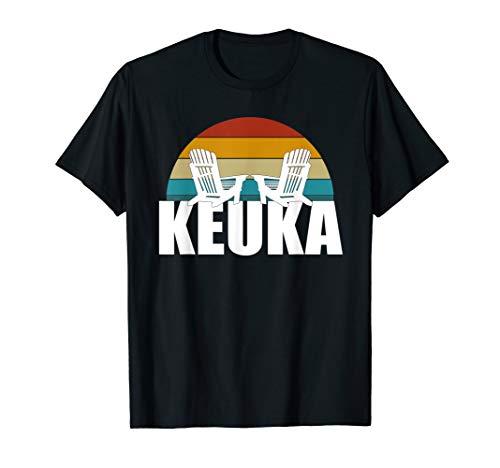 Keuka Lake Dock Chairs Sunset - Finger Lakes - Lake Life T-Shirt ()