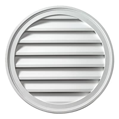 "Fypon FRLV36 36""W x 36""H Round Functional Louver from Ekena Millwork - DROPSHIP"