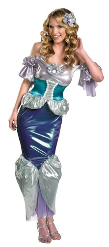 Women's Ariel Shimmer Deluxe Costume by Disguise - Size 12 / 14 (Adult Disney Characters Costumes)