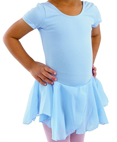 Basic Moves Big Girls Short Sleeve Leotard with Attached ...