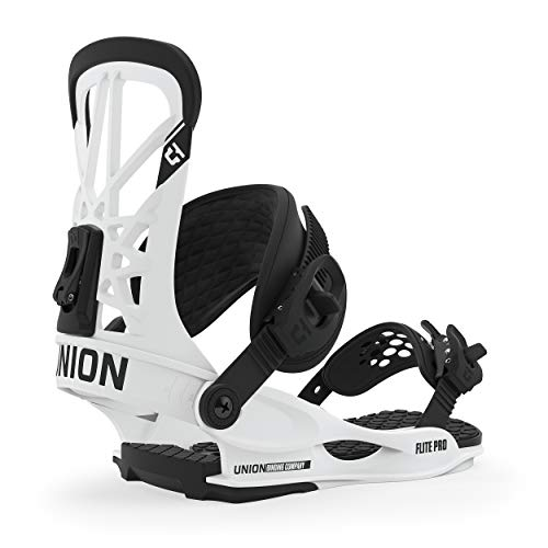 Union Flite Pro Snowboard Bindings Mens Sz L (10.5+) White
