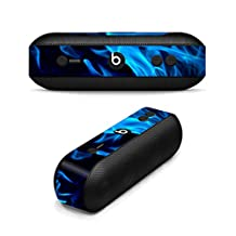 MightySkins Protective Vinyl Skin Decal for Beats By Dr. Dre Beats Pill Plus wrap cover sticker skins Blue Flames