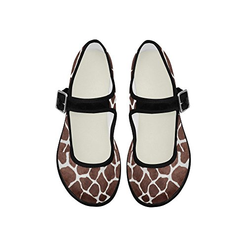 Multi InterestPrint Flats Womens Casual Jane 6 Shoes Comfort Walking Mary q8wdIxwWr