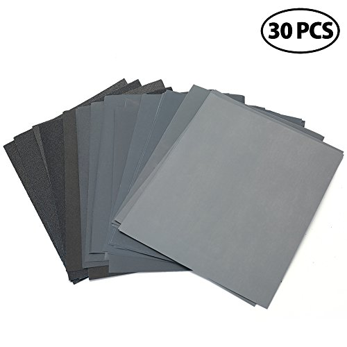 Dry Wet Sandpaper Sheets by LotFancy, 9 x 11