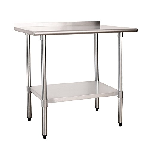 HaveGet 36 X 24 Stainless Steel Work Prep Table Commercial Kitchen ...