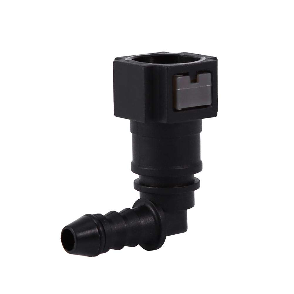 6.3mm Elbow Motorcycle Hose Coupler Fuel Line Connector Nylon Tubing ID6 Quick Release Fuel Line Connect Connector