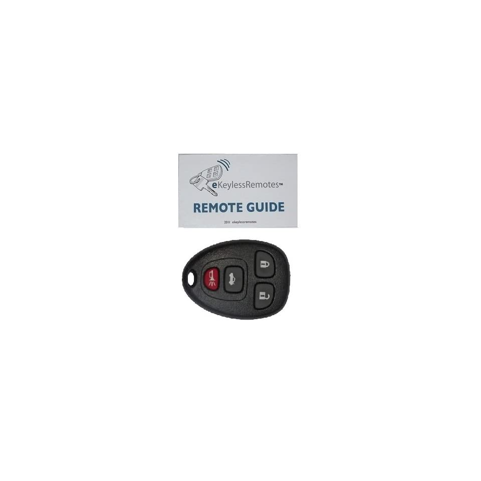 2007 2009 Saturn Outlook Keyless Entry Remote Fob Clicker With Do It Yourself Programming+ eKeylessRemotes Guide