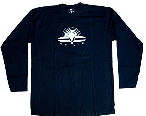 CHILLS Langarmshirt Shirt ALIEN No. 2 Größe XL Baumwolle schwarz beidseitig Siebdruck
