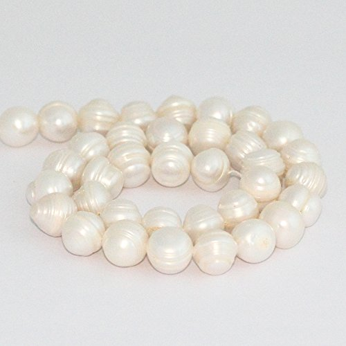 12 Mm Bicone (Authentic Natural Cultured Freshwater Pearl Loose Beads 11-12mm bead, ~15