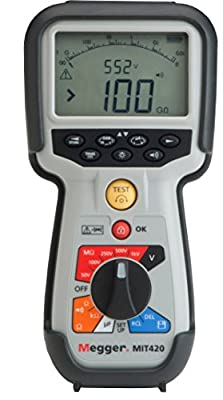 Megger Resistance Meter with Data Storage with a NIST-Traceable Calibration Certificate with Data