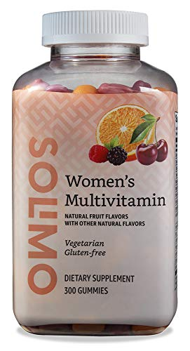 Amazon Brand – Solimo Women's Multivitamin, 300 Gummies (150 Servings)