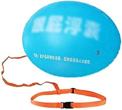 水泳安全フロート、大人のためのカヤックとシュノーケル浮揚装置、アンチチョーク/アンチクランプスイミングブイ (Color : Blue)