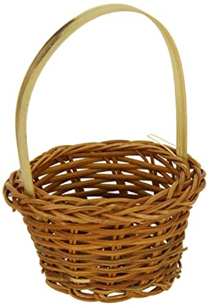 PacknWood Small Woven Bamboo Basket, 3.9-Inch Diameter (Case of 300)