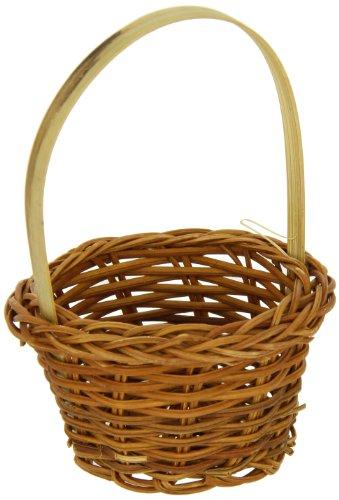Packnwood Small Woven Bamboo Basket, 3.9-Inch Diameter (C...
