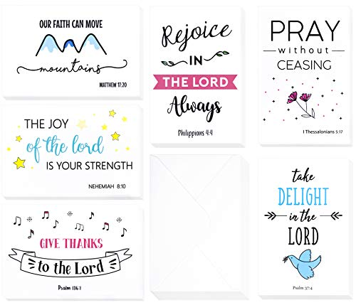 Easter Verses For Cards (Christian Greeting Cards - 60 Inspirational Greeting Cards -Bible Verse Greeting Cards -Motivational Greeting Cards- Religious Greeting Cards- 60 Scripture Greeting Cards with 60 Envelopes- 4 x 6)