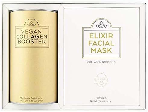 Fusion Naturals: Vegan Collagen Booster - Plant Based Collagen Supplement - 20 Servings - Support Collagen Density, Improve Skin Texture, Promote Joint Health