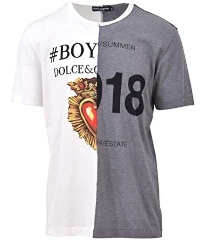 Gabbana Dolce Dress Cotton Shirt & (Dolce e Gabbana Men's G8iz2tg7okus9000 White/Grey Cotton T-Shirt)