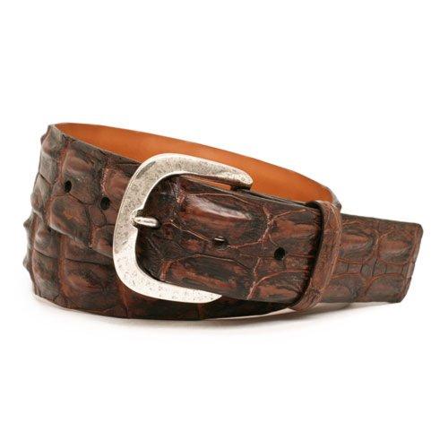 [Trafalgar Richmond Genuine Australian Hornback Crocodile Belt (40 Brown)] (Hornback Crocodile Belt)