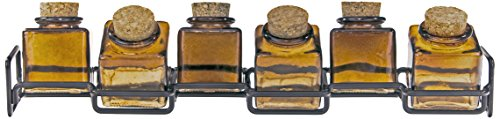 Couronne Company M224-6156G48 Horizontal Metal Spice Rack with Square Jars, 3 1/2'', Dark Amber, 1 Piece by Couronne Company (Image #4)
