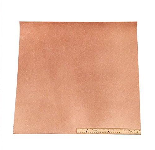 (Leather Side Piece Veg Tan Split Medium Weight 24 X 24 Inches 4 Square Feet)